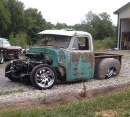 1954 Chevrolet Advance Design 3100 On Bagged S 10 Frame